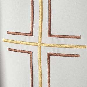 Chasuble liturgique croix double raisins s3
