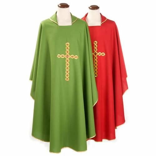 Chasuble liturgique croix tortillon s1
