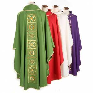 Chasuble liturgique décor doré s2