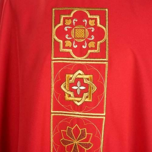 Chasuble liturgique décor doré s4