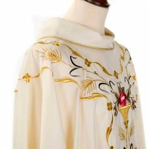 Chasuble liturgique fleurs et décors 100% laine s6