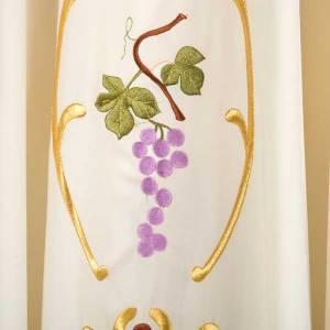 Chasuble liturgique laine épis raisins feuilles s4