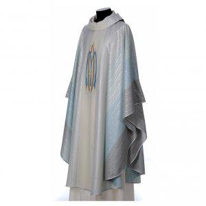 Chasuble liturgique mariale 100% laine Tasmania s3