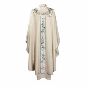 Chasuble mariale 100% serge de laine bande centrale col brodés s1