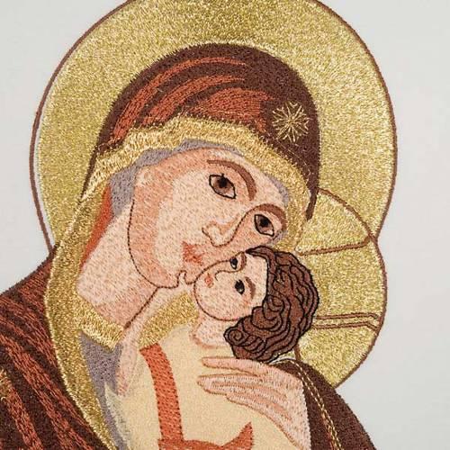 Chasuble Mariale Vierge de la Tendresse et lys s5