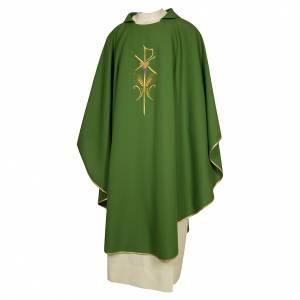 Chasubles: Chasuble prêtre 100% polyester avec épis croix raisin