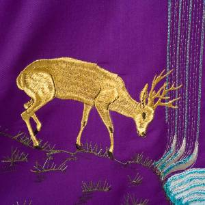 Chasuble with deer, stoop, loaves and fish s8