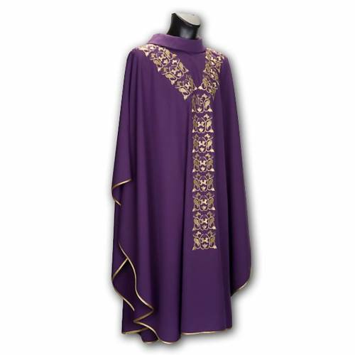 Chasuble with stole, IHS embroidery s8