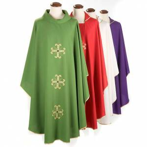 Chasubles: Chasuble with three crosses and glass pearl