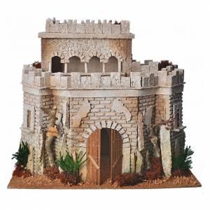 Château arabe en liège pour crèche s1