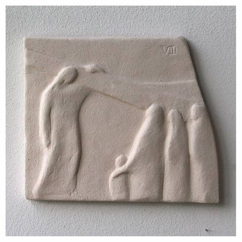 Chemin croix carreaux irréguliers 20x294 cm argile Ave s13