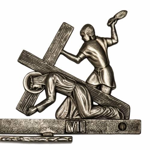 Chemin de croix en laiton 14 stations 2 pièces s4