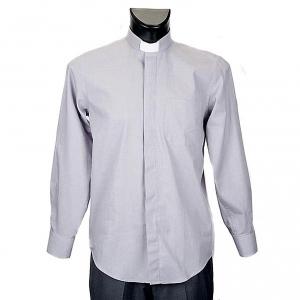 Chemises Clergyman: STOCK Chemise m.longues  filafil gris claire