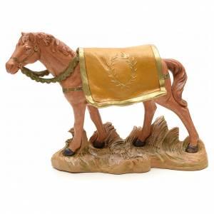 Cheval marron crèche Fontanini 19 cm s1