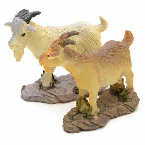 Chèvre pour crèche résine 10 - 14cm s2