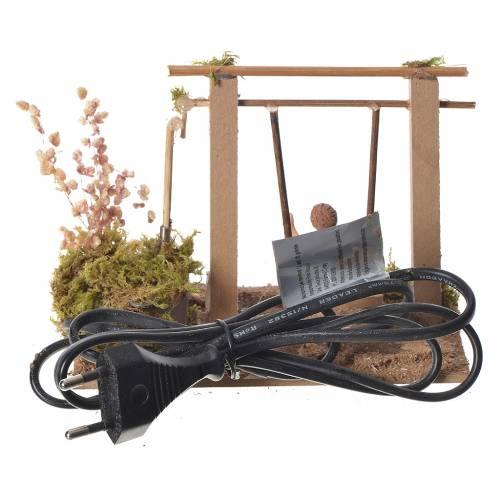 Child on swing, animated nativity figurine 10cm s3