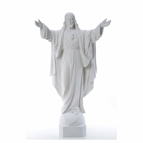 Christ the Redeemer in reconstituted Carrara Marble, 100 cm s1