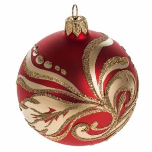 Christmas bauble with artistic gold decorations, 8cm s1