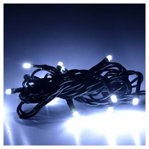Christmas lights 10 small led ice white indoors s2