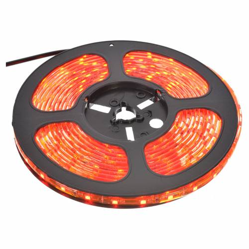 Christmas lights 5m strip with 300 LED for indoor use with adhesive, red s1