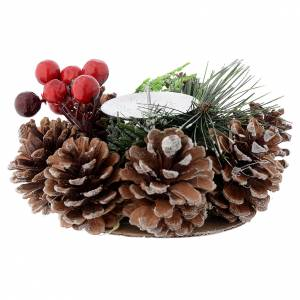 Christmas home decorations: Christmas table centrepiece, candle holder