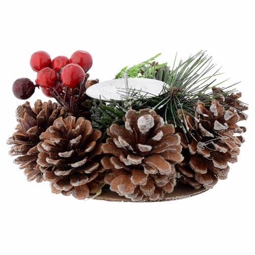 Christmas table centrepiece, candle holder s1