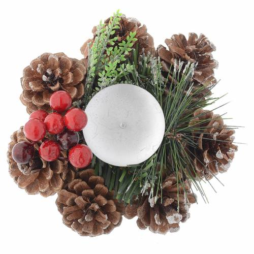 Christmas table centrepiece, candle holder s2
