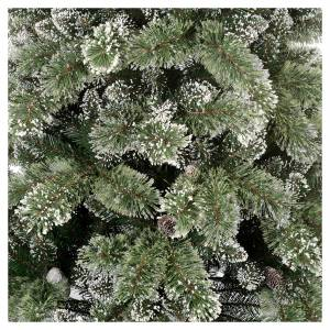Artificial Christmas trees: Christmas tree 180 cm, green with pine cones Glittery Bristle
