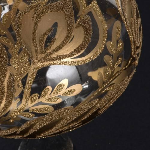 Cimier de sapin de noel verre transparent peint à la main s4