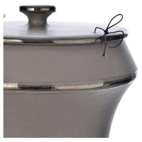 Cinerary urn in ceramic, light grey s2