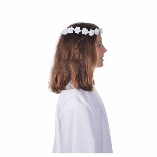 Cintillo floral para vestido de primera comunión s1