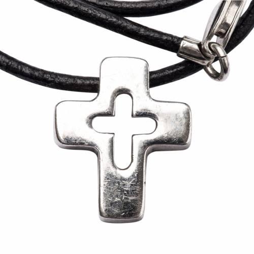Ciondolo croce argento con intaglio s1