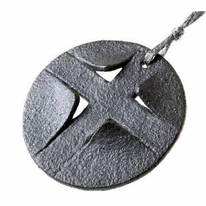 Pendenti croce ceramica: Pendente gres porcellanato tondo