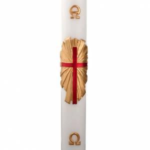 Cirio pascual decoración cruz sobre dorado s1