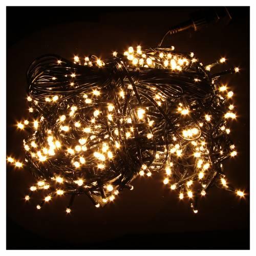 Éclairage Noël chaîne 1000 LEDS blanc chaud EXTÉRIEUR programmable s2