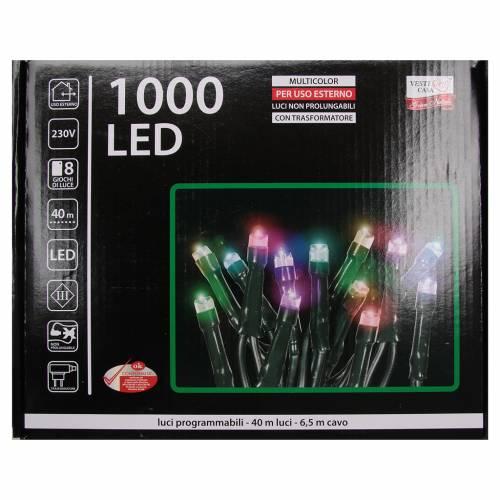 Éclairage Noël chaîne 1000 LEDS multicolores EXTÉRIEUR programmable s4