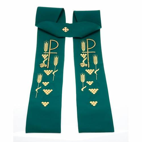 Clergy stole with Chi-Rho embroidery s7