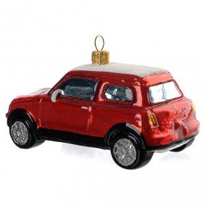 Adornos de vidrio soplado para Árbol de Navidad: Coche Mini Cooper rojoadorno vidrio soplado Árbol de Navidad