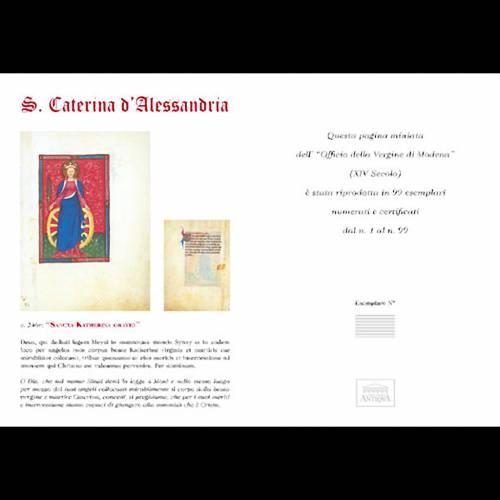Santa Caterina d'Alessandria codice miniato s5