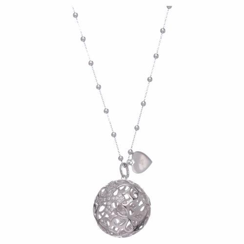 Collana AMEN chiama angeli argento 925 croce e zirconi s1