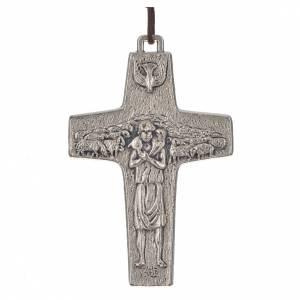 Pendenti croce metallo: Collana Croce Papa Francesco metallo 8x5