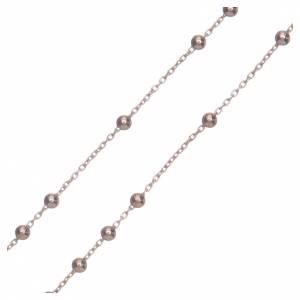 Collana rosario AMEN classico argento 925 fin. Rosè s3