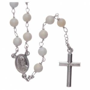Collana Rosario Amen in madreperla Papa Francesco s2