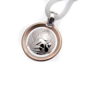 Colgantes, cruces y broches: Collar Medalla con Ángel Plata 925
