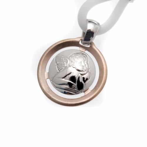 Collar Medalla con Ángel Plata 925 s1