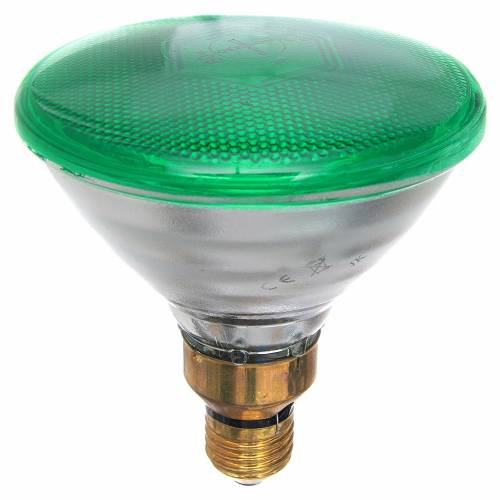 Coloured light bulb 80W, E27, green for nativities lighting s1