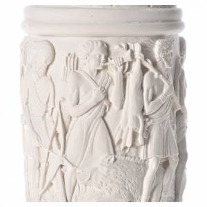 Column for statues, in reconstituted Carrara marble 31,5in s5