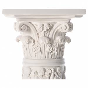 Column for statues, in reconstituted Carrara marble 31,5in s4