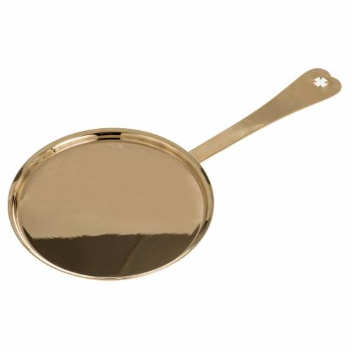 Communion plate in polished brass s1