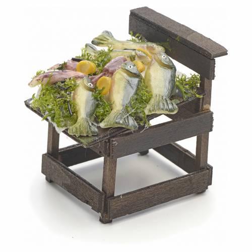 Comptoir des poissons en miniature crèche Napolitaine s3